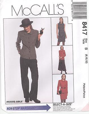 McCall's 8417 Misses' Lined Jacket, Lined Dress, Pants and S