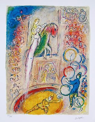 MARC CHAGALL Facsimile Signed Limited Edition Art Giclee CIRCUS IV