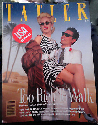Vtg British UK TATLER 6/1989 Naomi Campbell Mike Tyson Laura Ashley Paul Smith