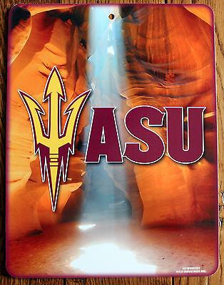 Lic. NCAA Plastic Sign Arizona State University Sun Devils Wall Decor 11 X 8 1/2 - Asu Decorations