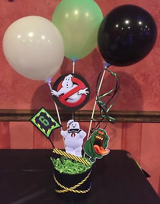 Ghostbusters Centerpiece/ Cake Topper/ lollipop holder/ Table Decor - Ghostbusters Decorations
