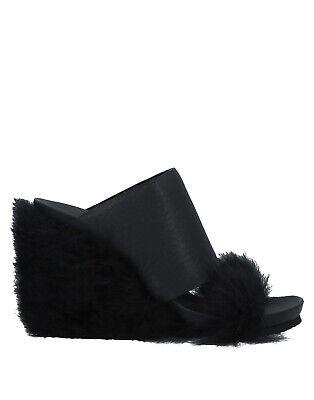 RRP €360 PETER NON Leather & Sheep Fur Mule Sandals EU 36 UK 3 US 4.5 HANDMADE