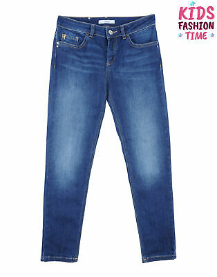 PATRIZIA PEPE Jeans Size JR / 16Y Stretch Faded Effect Zip Fly