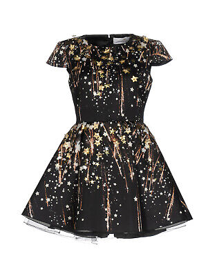 RRP €425 ELISABETTA FRANCHI GOLD Mini Fit & Flare Dress Size 46 Made in Italy