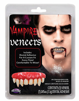 Double Fang False Teeth Vampire Dental Veneer Horror Costume Makeup Accessory (Dental Halloween Costumes)