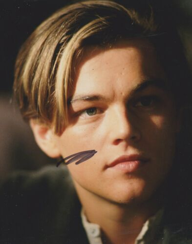 Leonardo DiCaprio Signed Titanic 10x8 Photo AFTAL