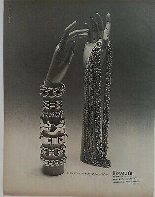 1968 Tiffany & Co armful gold bangle bracelets necklaces vintage jewelry ad