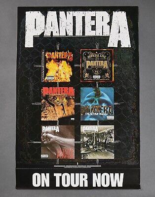 """Pantera """"On Tour Now"""" 2001 Album Collage_Record Store Promo POSTER 27X18"""