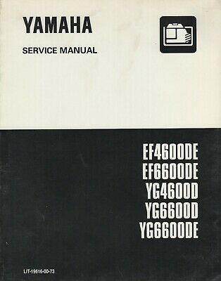 1996 YAMAHA PORTABLE GENERATOR (see Cover List) SERVICE MANUAL 19616-00-73 (743) for sale  Shipping to India