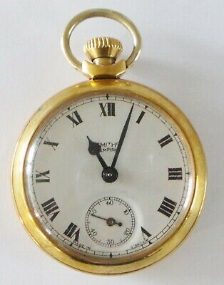 VINTAGE SMITHS GOLD TONE POCKET WATCH - WORKING CONDITION