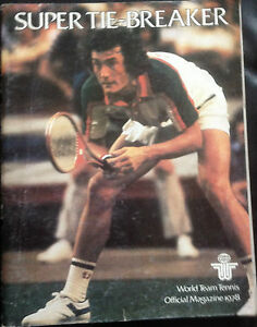 World-Team-Tennis-Magazine-Super-tiebreaker-1978-Very-Rare-Good-Condition