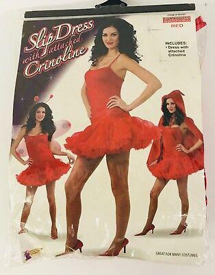 Halloween Slip Dress With Crinoline # 66347 Red Costume Forum Novelties Women - Halloween Costumes With Red