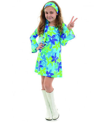Flower Child Halloween Costumes (Harmony 70S Hippie Diva Flower Child Girls Halloween)