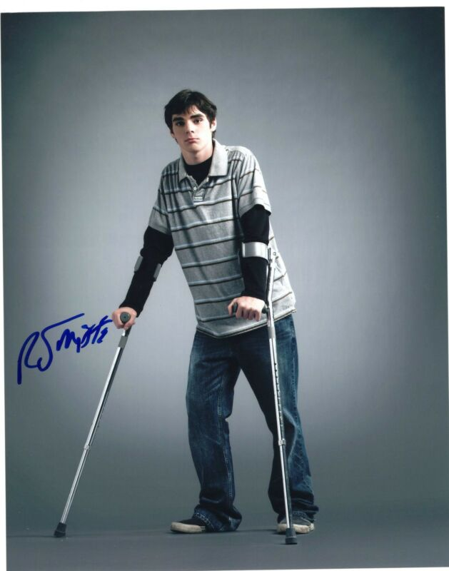 RJ Mitte Breaking Bad Walter White Jr. Signed 8x10 Photo w/COA #12