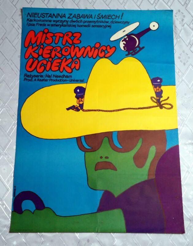 ** SMOKEY AND THE BANDIT ** 1SH Original Polish Poster Reynolds Field