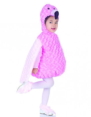 Flamingo Toddler Costume (Pink Flamingo Animal Belly Babies Toddler Halloween)