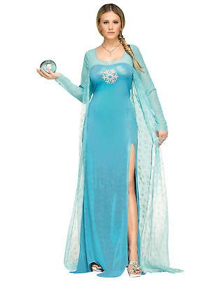 Blue Snowflake Ice Snow Queen Princess Movie Adult Womens Costume