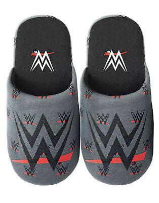 WWE Boy's Logo Polyester Black House Slip-on Slippers