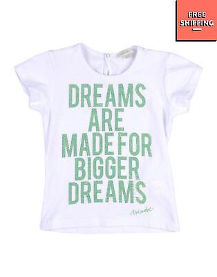 MICROBE By MISS GRANT T-Shirt Top Size 4Y / 98-104CM Rhinestones Printed