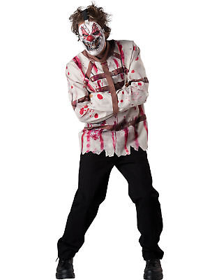 Circus Psycho Clown Beschränkung Horror Erwachsene Herren Halloween Kostüm (Psycho Circus Kostüm)