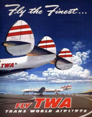 11x14 Vintage TWA Poster PHOTO Trans World Airlines Print Advertisement Art 1950