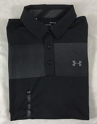Under Armour Men's Golf Polo Heat Gear Black 1311009 Size M