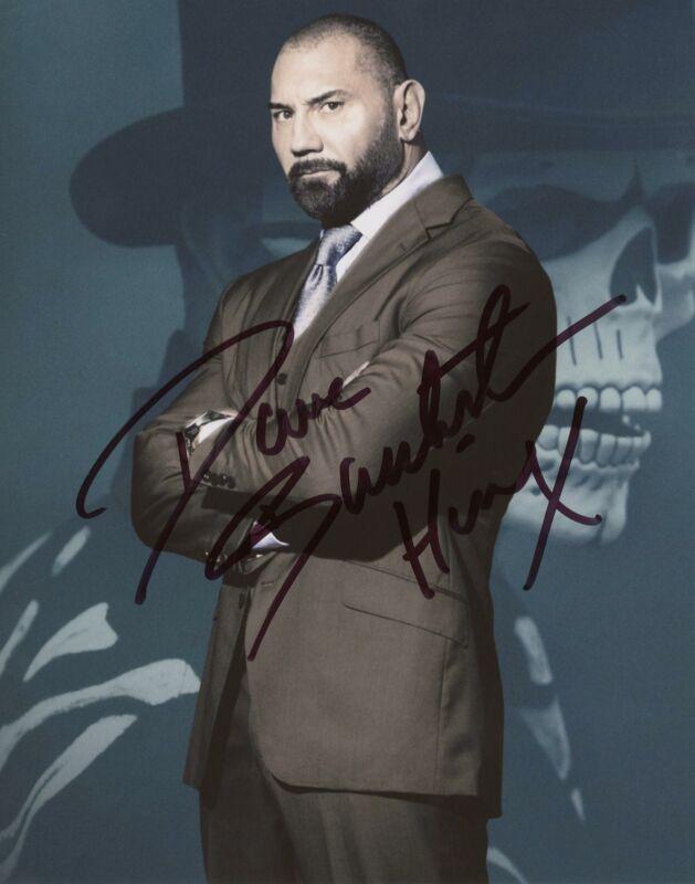 "Dave Bautista ""007 Spectre"" AUTOGRAPH Signed 8x10 Photo B ACOA"