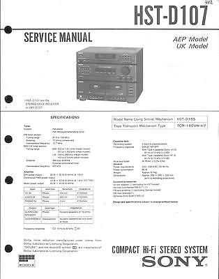 Sony Original Service Manual für HST-D 107
