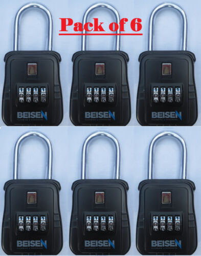 PACK OF 6 - Lockbox key lock box for realtor real estate 4 digit