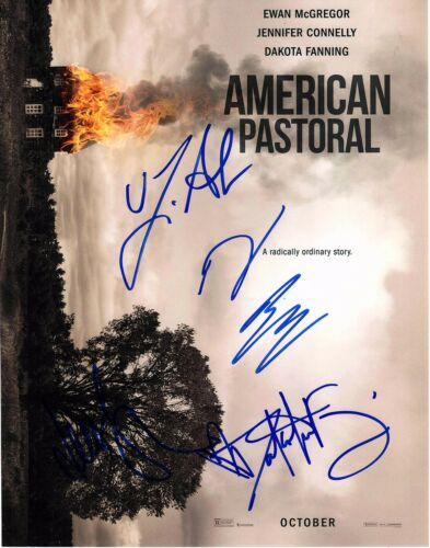 AMERICAN PASTORAL CAST SIGNED 11X14 PHOTO! JENNIFER CONNELLY EWAN AUTOGRAPH