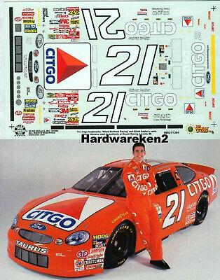 NASCAR DECAL #21 CITGO 1999 FORD TAURUS ELLIOTT SADDLER SLIXX