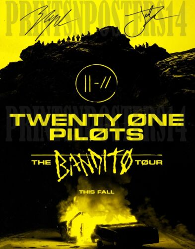 Twenty One Pilots 11x14 SIGNED REPRINT Josh Dun & Tyler Joseph TOUR Poster