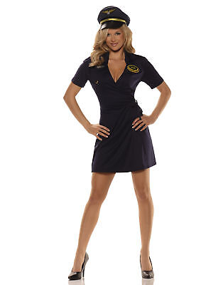 Mile High Sexy Pilot Adult Womens Halloween Costume