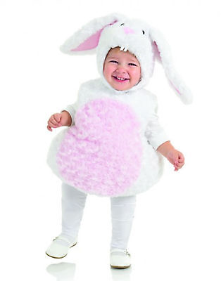 White Pink Rabbit Bunny Animal Belly Babies Toddler Costume](Toddler Bunny Costume)