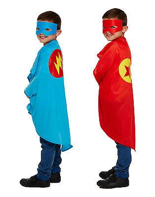 Superheld Kostüm Kinder Jungen Mädchen Outfit Halloween Party Umhang & - Kind Mädchen Superheld Kostüm