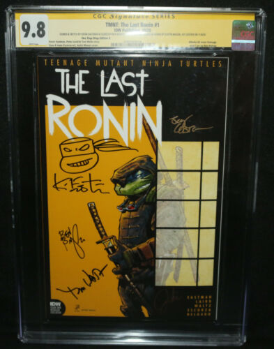 TMNT: The Last Ronin #1 D Signed x5 Kevin Eastman Sketch CGC Signature 9.8 -