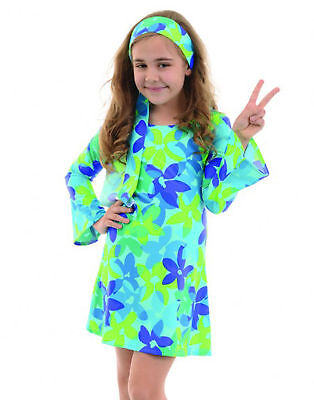 60S 70S GO GO GIRL RETRO HIPPIES DISCO FEVER DIVA FLOWER HARMONY CHILD - Girls Hippy Costume