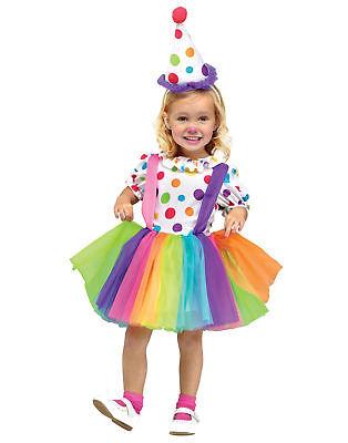 Rainbow Big Top Lustige Party Clown Tütü Kinder Mädchen Halloween Kostüm