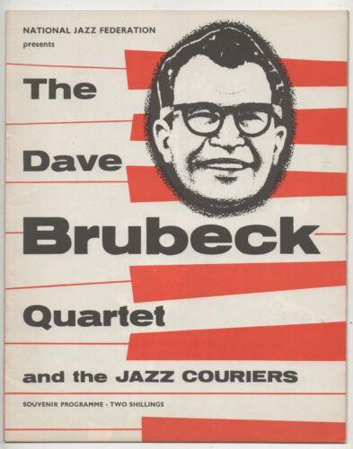 THE DAVE BRUBECK QUARTET - 1957 ORIGINAL SOUVENIR PROGRAMME.