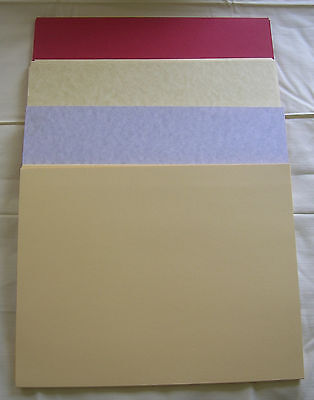 Pack of 10 card or cover stock, Gold Parchment, Deep Red, Buff, Gray Calais (Gold Card Stock)