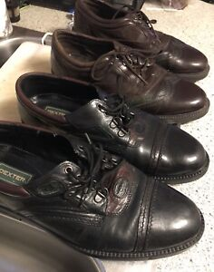 Men's Dress shoes size 9 1/2 , gently used. $20 for both pairs.