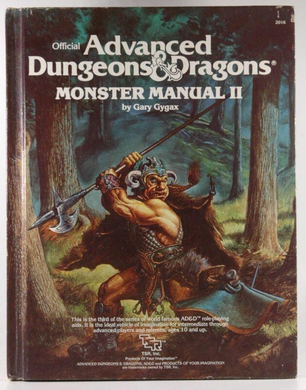 AD&D Monster Manual II G+ Gary Gygax  TSR