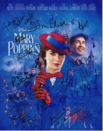 EMILY BLUNT MERYL STREEP SIGNED MARY POPPINS RETURNS PHOTO 11X14 AUTOGRAPH LIN