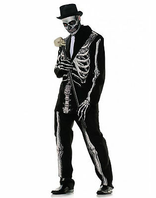 Bone Daddy Day Of The Dead Skeleton Adult Mens Halloween Costume (Day Of The Dead Costums)