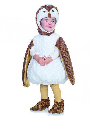 White Brown Barn Owl Animal Toddler Halloween Costume