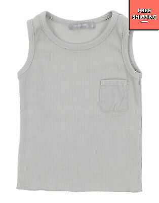 1 + IN THE FAMILY Vest Top Size 6M Grey Ribbed Scoop Neck