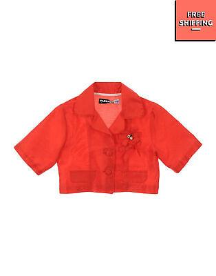 PAESAGGINO Blazer Jacket Size 6Y Embellished Short Sleeve Cropped Made in Italy