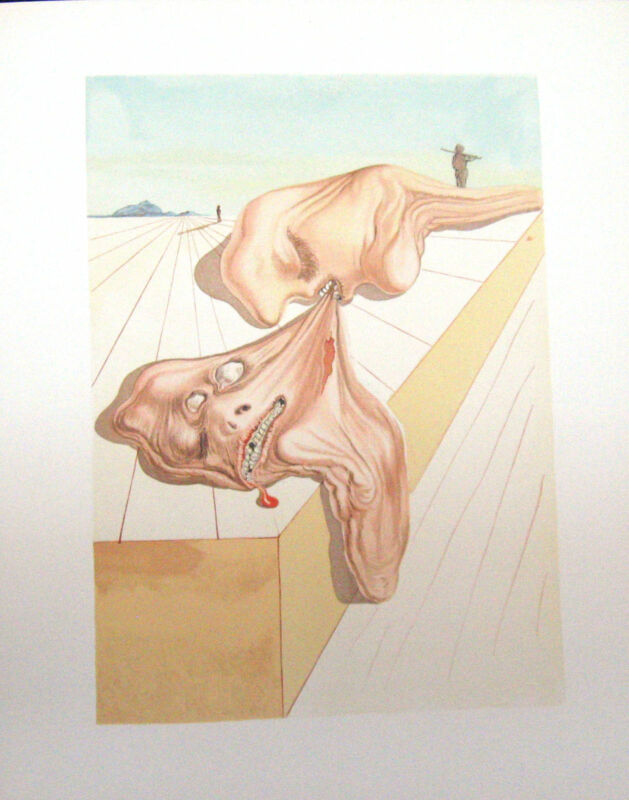Salvador Dali The Divine Comedy Inferno #30 Woodblock Etching Make Offer