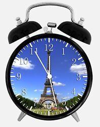 Eiffel Tower Alarm Desk Clock 3.75 Home or Office Decor Z178 Nice For Gift