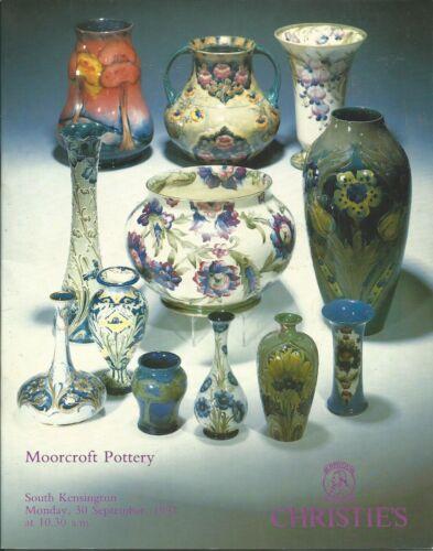 CHRISTIE'S Moorcroft Pottery Auction Catalog 1991